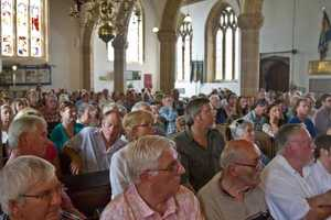 Finally, three of the Festival's greatest assets - our audience and St Mary's, Stogumber's wonderful church...